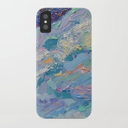 Summer Clouds - impressionism abstract summer nature landscape by Adriana Dziuba iPhone Case