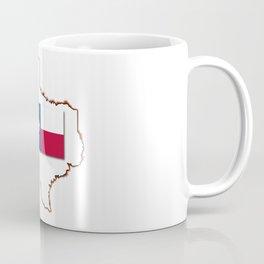 Texas Map and Flag Coffee Mug
