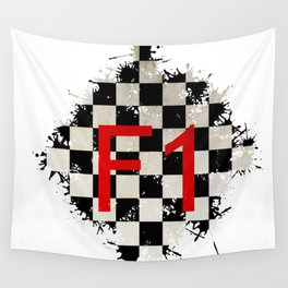 The Chequered Splatter Wall Tapestry