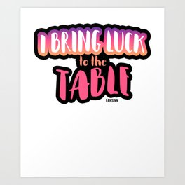 Luck Poker table Gift Art Print