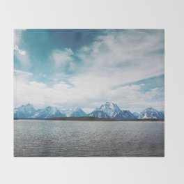 Dreaming of Mountains and Sky Throw Blanket