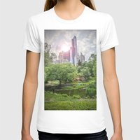 central park T-shirts featuring Central Park Dreams by MikeMartelli