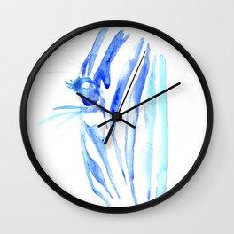 Blue Zebra Wall Clock