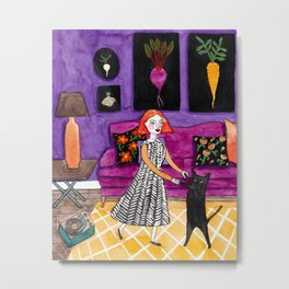 A Little Dance Party Metal Print