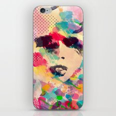 Abstract girl iPhone Skin