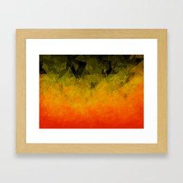 Sunset Abstract Facets Framed Art Print