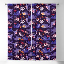 Spooky Cory cats Blackout Curtain