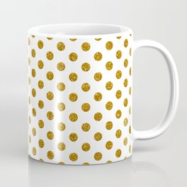 Gold Glitter Polka Dots Coffee Mug