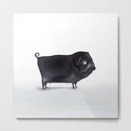 Funny Pug - Michael Metal Print