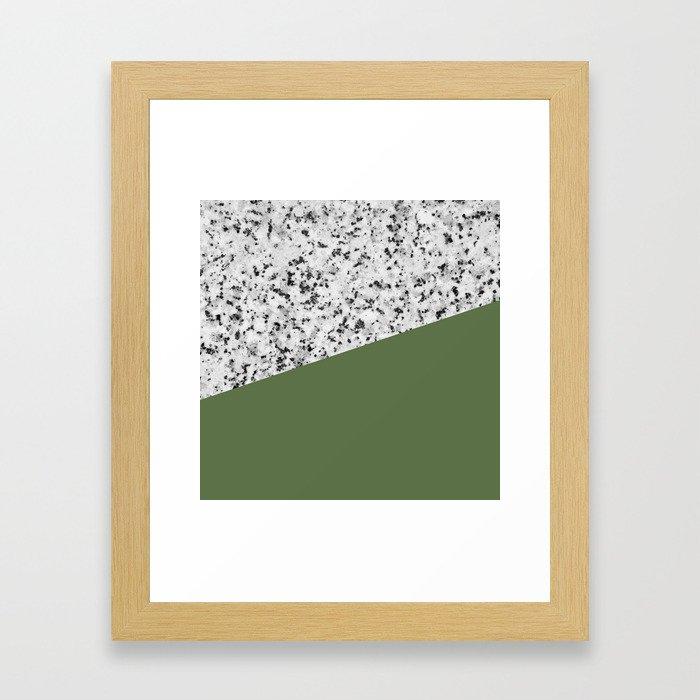 Granite and Kale Color Framed Art Print