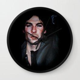 Ian Somerhalder (Damon from Vampire Diaries) Wall Clock