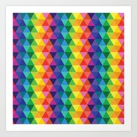 Geometric Galaxy Art Print
