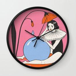 Sad Clown with a Ball of Tears Wall Clock