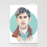 vampire weekend Stationery Cards featuring Ezra Koenig, Vampire Weekend by Megan Diño