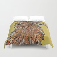 hare Duvet Covers featuring Hare by Louisa Heseltine