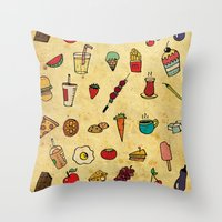 Food Love Pattern Throw Pillow