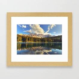 Alpine Lake Framed Art Print