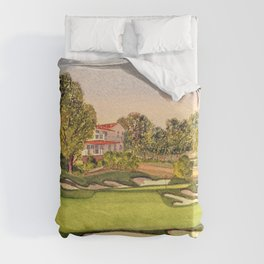 Pasatiempo Golf Course Hole 3 Santa Cruz Duvet Cover