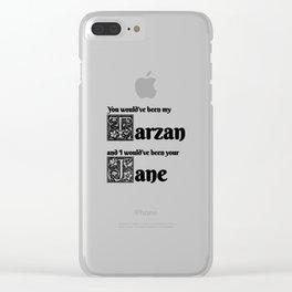Tarzan & Jane Clear iPhone Case