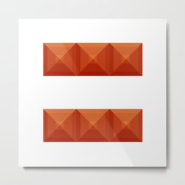 Equals sign print in beautiful design Fashion Modern Style Metal Print