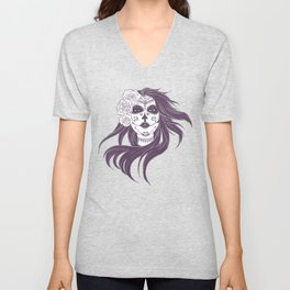 Day of the Dead Woman Unisex V-Neck
