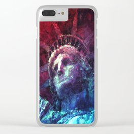 Patriotic Liberty Clear iPhone Case