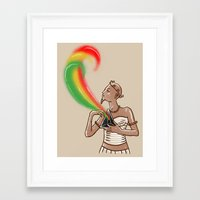 supreme Framed Art Prints featuring Supreme pyramid by barmalisiRTB