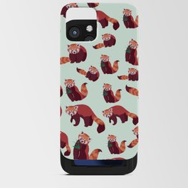Red Panda Pattern iPhone Card Case