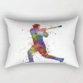 Baseball player hitting a ball 05 Rectangular Pillow
