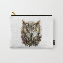 Owl Face Grunge Carry-All Pouch