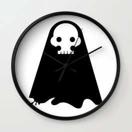 ghost - black Wall Clock