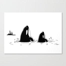 """ Spyhoppers "" Canvas Print"