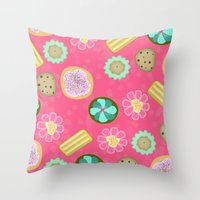 cookies Throw Pillows featuring Cookies by Party Peeps