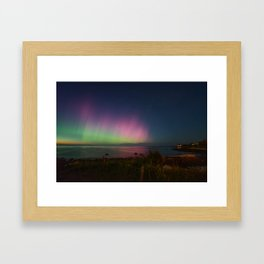Pink Aurora at Old Garden Beach Framed Art Print
