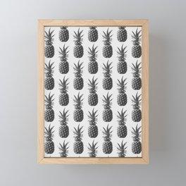Pineapple Pattern 01 Framed Mini Art Print