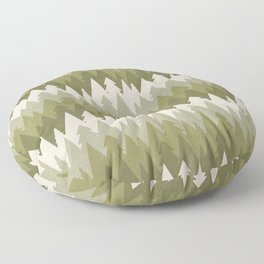 Layered Green Forest Floor Pillow