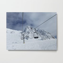 Mammoth Mountain: Chair 14 Metal Print