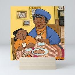 A grandma's love and ham sandwiches  Mini Art Print