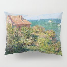 Fisherman's Cottage on the Cliffs at Varengeville Claude Monet Pillow Sham