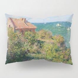 Fisherman's Cottage on the Cliffs at Varengeville Claude Monet Kissenbezug