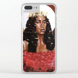 Black Mona Lisa Clear iPhone Case