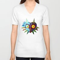majoras mask V-neck T-shirts featuring Majora's Mask - Twili by brit eddy
