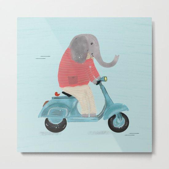 elephant scooter Metal Print