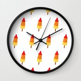 Popsicles on white Wall Clock