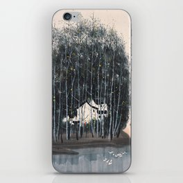 Wu Guanzhong 'Village in the Woods' - 吴冠中 树林村 iPhone Skin