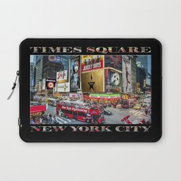 Times Square II (widescreen on black) Laptop Sleeve