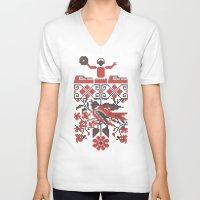 deadmau5 V-neck T-shirts featuring Ethno DJ by Sitchko Igor
