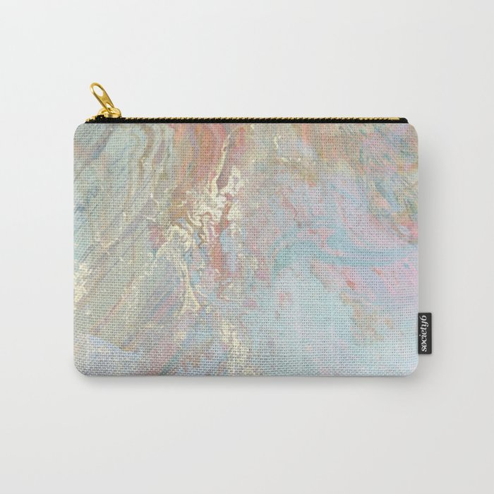 Pastel unicorn marble Carry-All Pouch