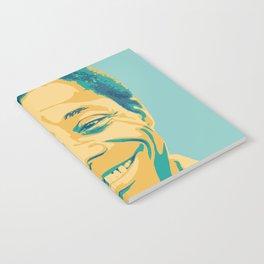 James Baldwin Portrait Teal Gold Blue Notebook