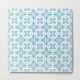 Blue Tile Metal Print